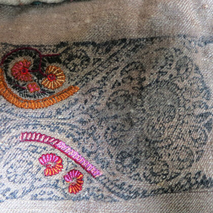 Sozni embroidery process
